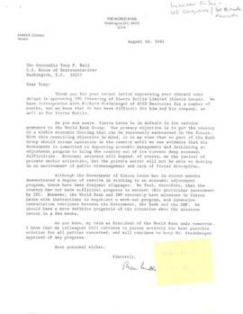 Liaison Files: U.S. Government - U.S. House of Representatives - Correspondence 02