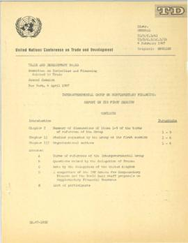 Irving Friedman UNCTAD Files: Geneva Meeting on Supplementary Finance, February 1967 - UNCTAD doc...