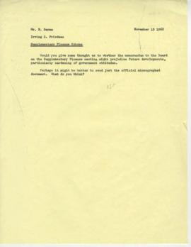 Irving Friedman UNCTAD Files: Paris DAC Meeting on Supplementary Finance, October 1968 - Correspo...