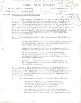 Hollis B. Chenery Papers - McNamara discussions / notebooks / memoranda - 1975 (August - December)