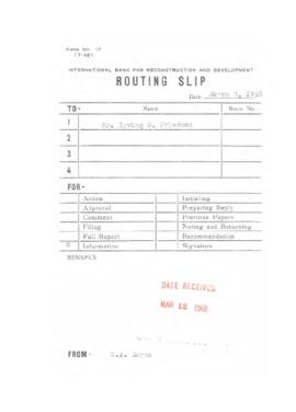 Irving Friedman UNCTAD Files: New Delhi Meeting, February 1 - March 25, 1968 - Correspondence 02 ...