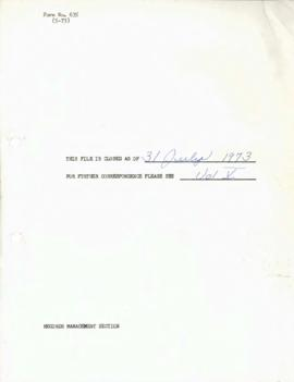 Operations - Research 1972 / 1974 Correspondence - Volume 4