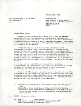 Clausen Papers - Special Programme for Research and  Training in Tropical Diseases - Corresponden...